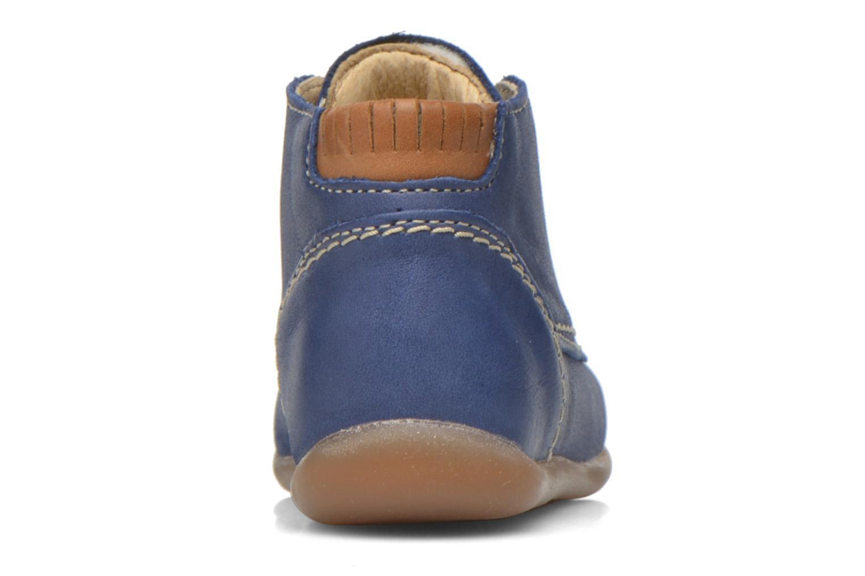 Chaussures à lacets Babybotte Fanfaron Bleu vue droite