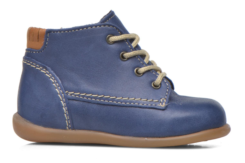 Chaussures à lacets Babybotte Fanfaron Bleu vue derrière