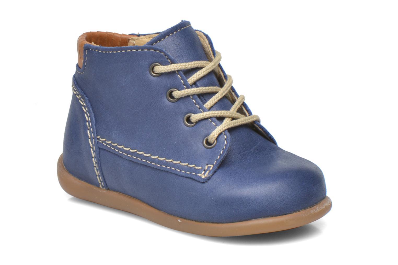 Chaussures à lacets Babybotte Fanfaron Bleu vue détail/paire