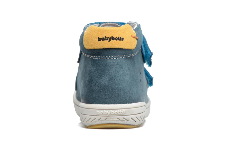 Zapatos con velcro Babybotte Antilles Azul vista lateral derecha