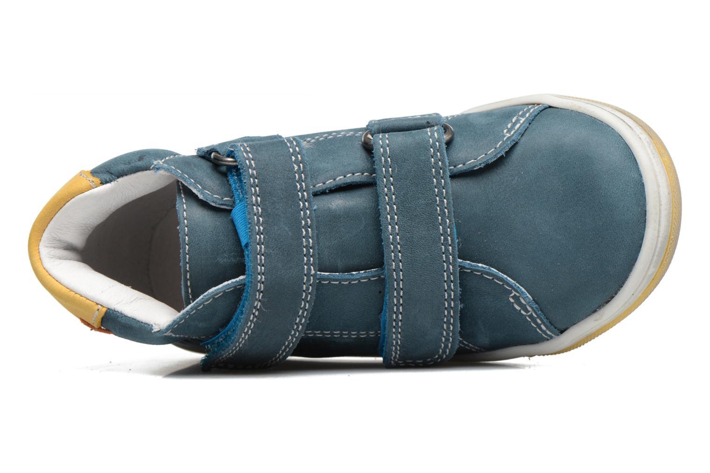 Zapatos con velcro Babybotte Antilles Azul vista lateral izquierda