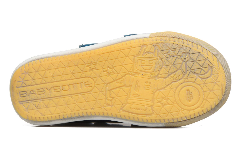 Zapatos con velcro Babybotte Antilles Azul vista de arriba