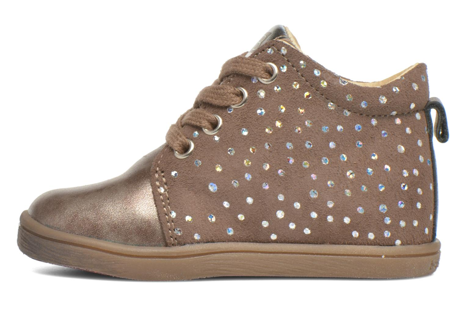Ankle boots Babybotte Frangipane Beige front view