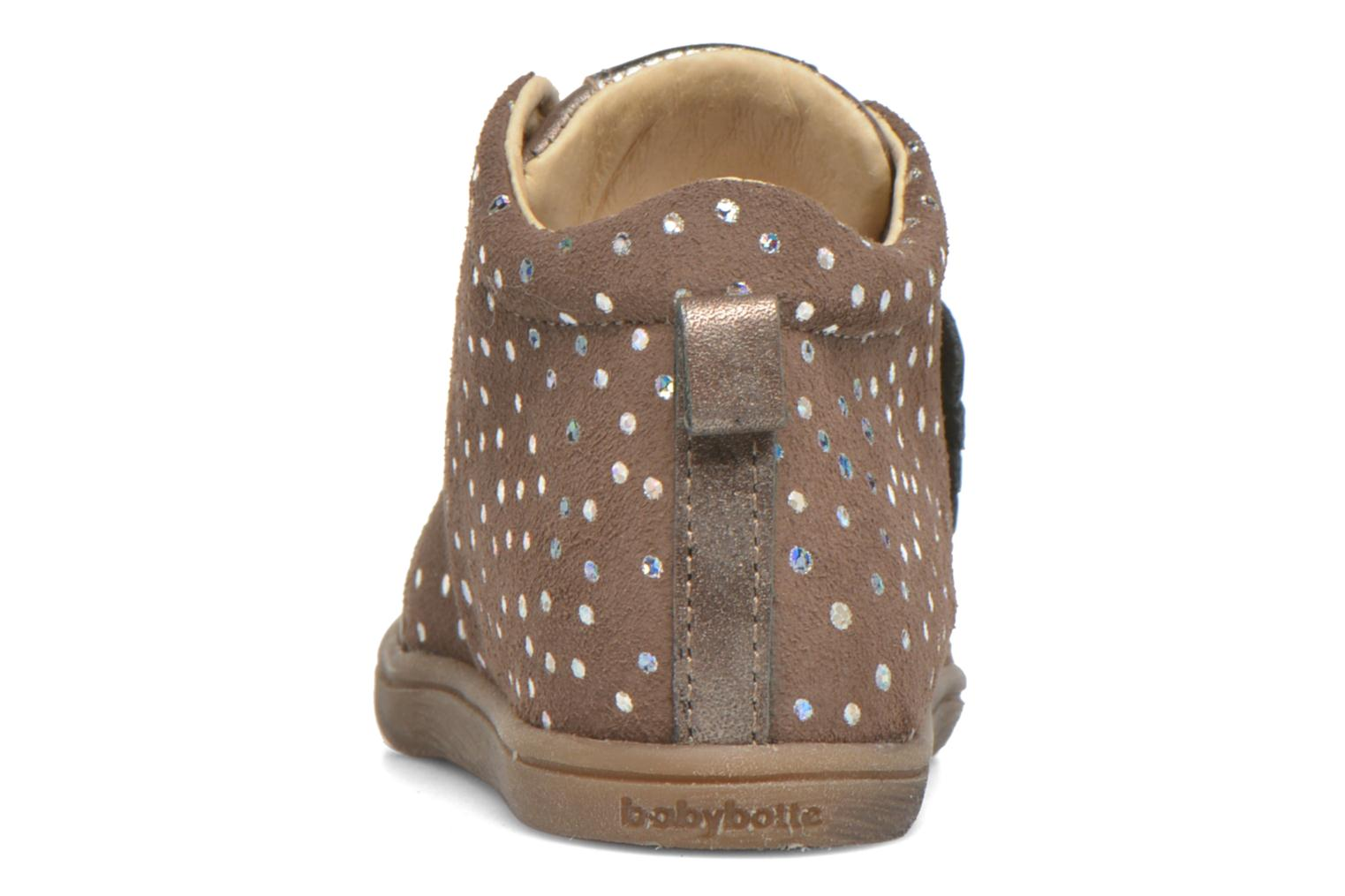 Ankle boots Babybotte Frangipane Beige view from the right