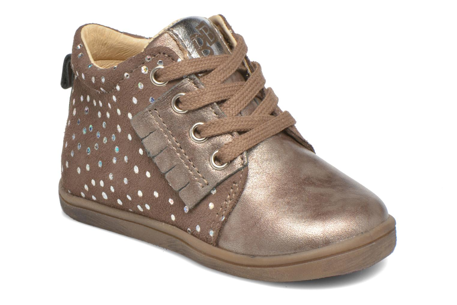 Ankle boots Babybotte Frangipane Beige detailed view/ Pair view
