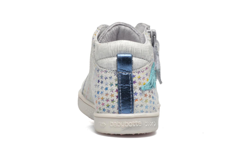Sneaker Babybotte Adrenaline silber ansicht von rechts