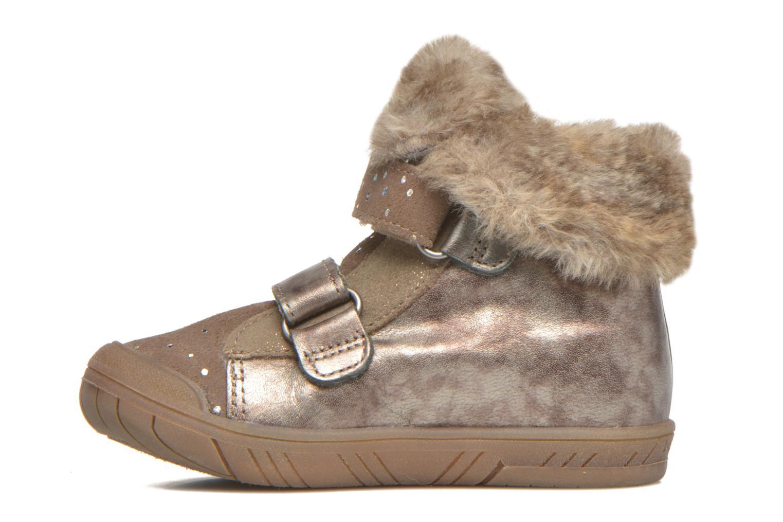 Chaussures à scratch Babybotte Artiwiniefl Marron vue face