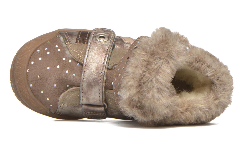 Chaussures à scratch Babybotte Artiwiniefl Marron vue gauche