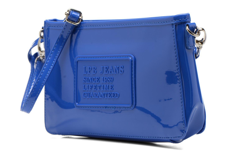 Clutch bags Les P'tites Bombes Pochette Verni Blue model view
