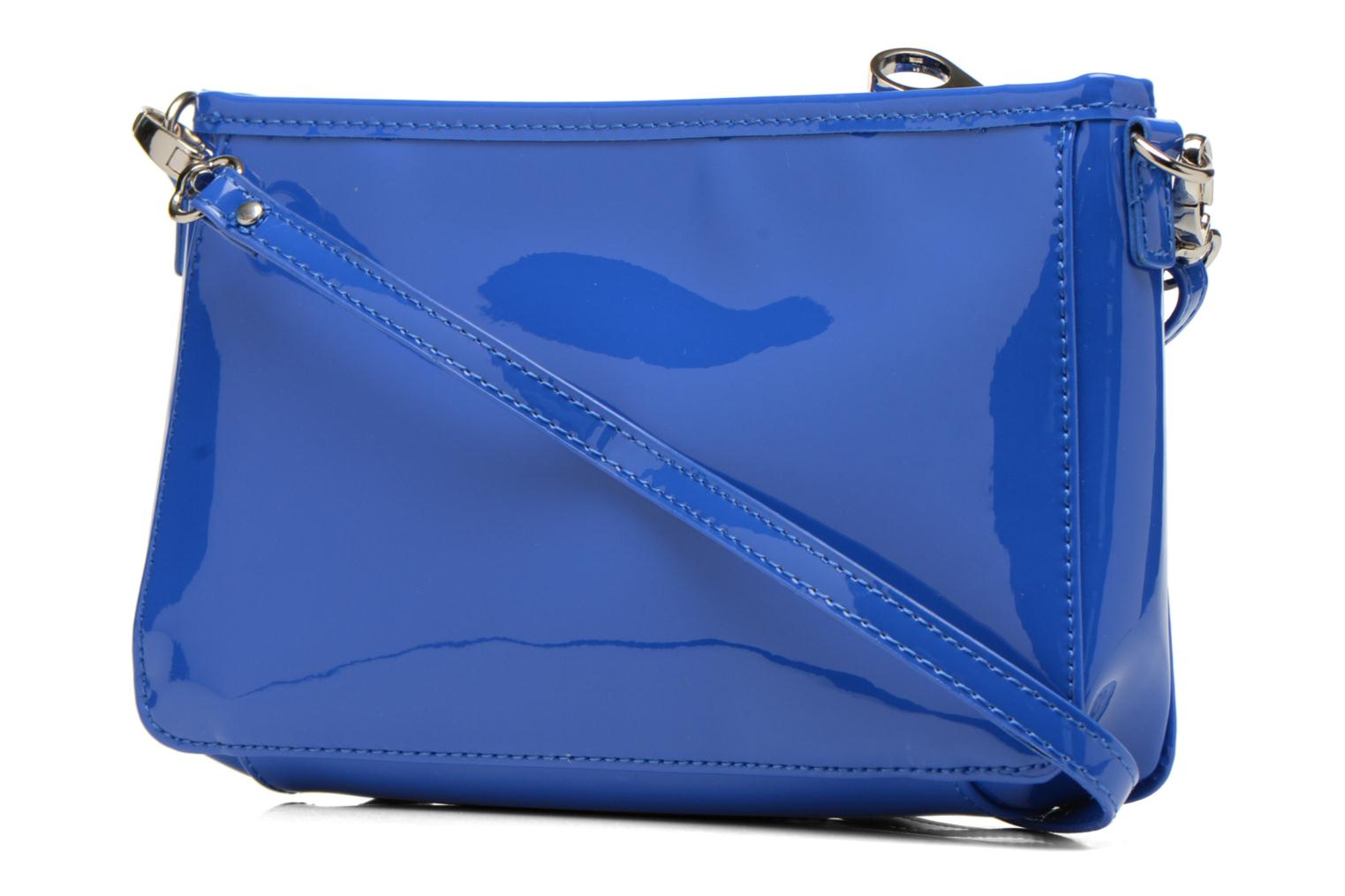 Clutch bags Les P'tites Bombes Pochette Verni Blue view from the right