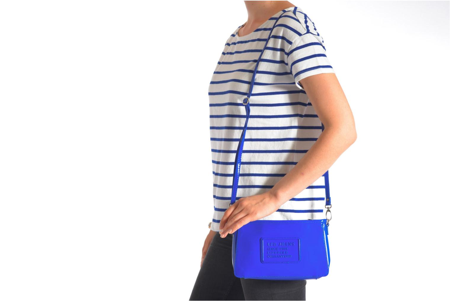 Clutch bags Les P'tites Bombes Pochette Verni Blue view from above