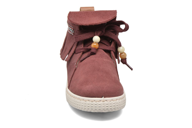 Baskets Victoria Botin Flecos Serraje Rouge vue portées chaussures
