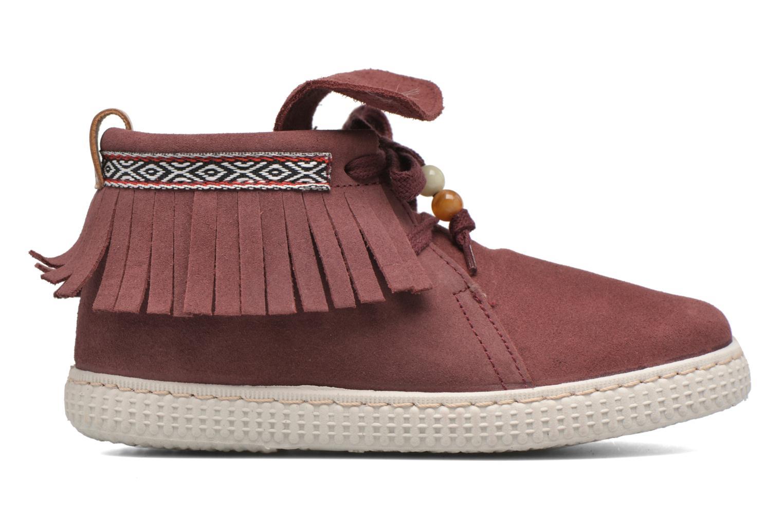 Sneakers Victoria Botin Flecos Serraje Rosso immagine posteriore