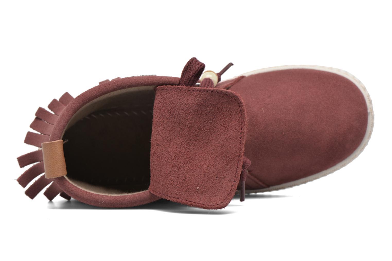 Sneakers Victoria Botin Flecos Serraje Rosso immagine sinistra