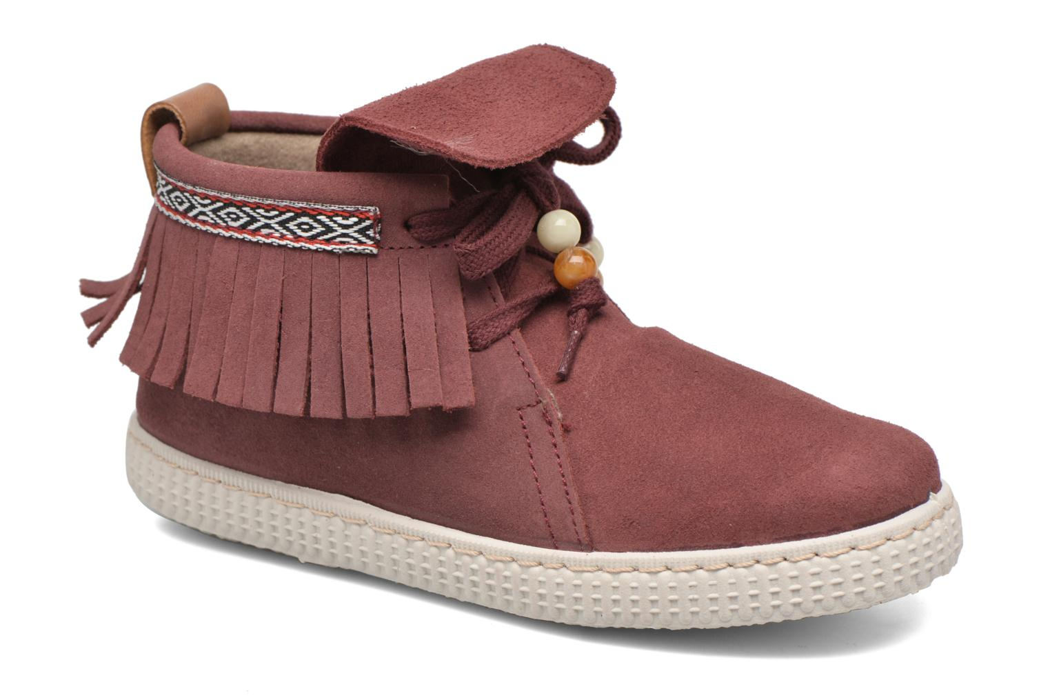 Trainers Victoria Botin Flecos Serraje Red detailed view/ Pair view