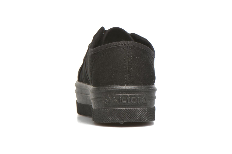 Baskets Victoria Blucher Antelina Plataf Noir vue droite