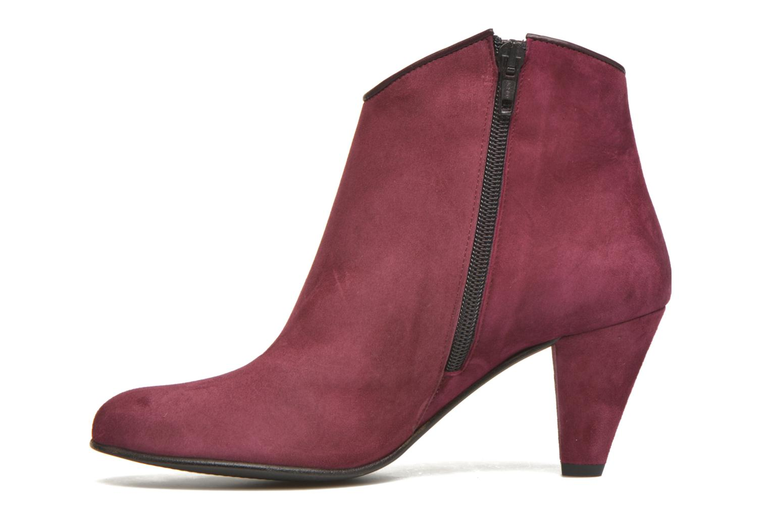 Ankle boots Georgia Rose Lolok Burgundy front view