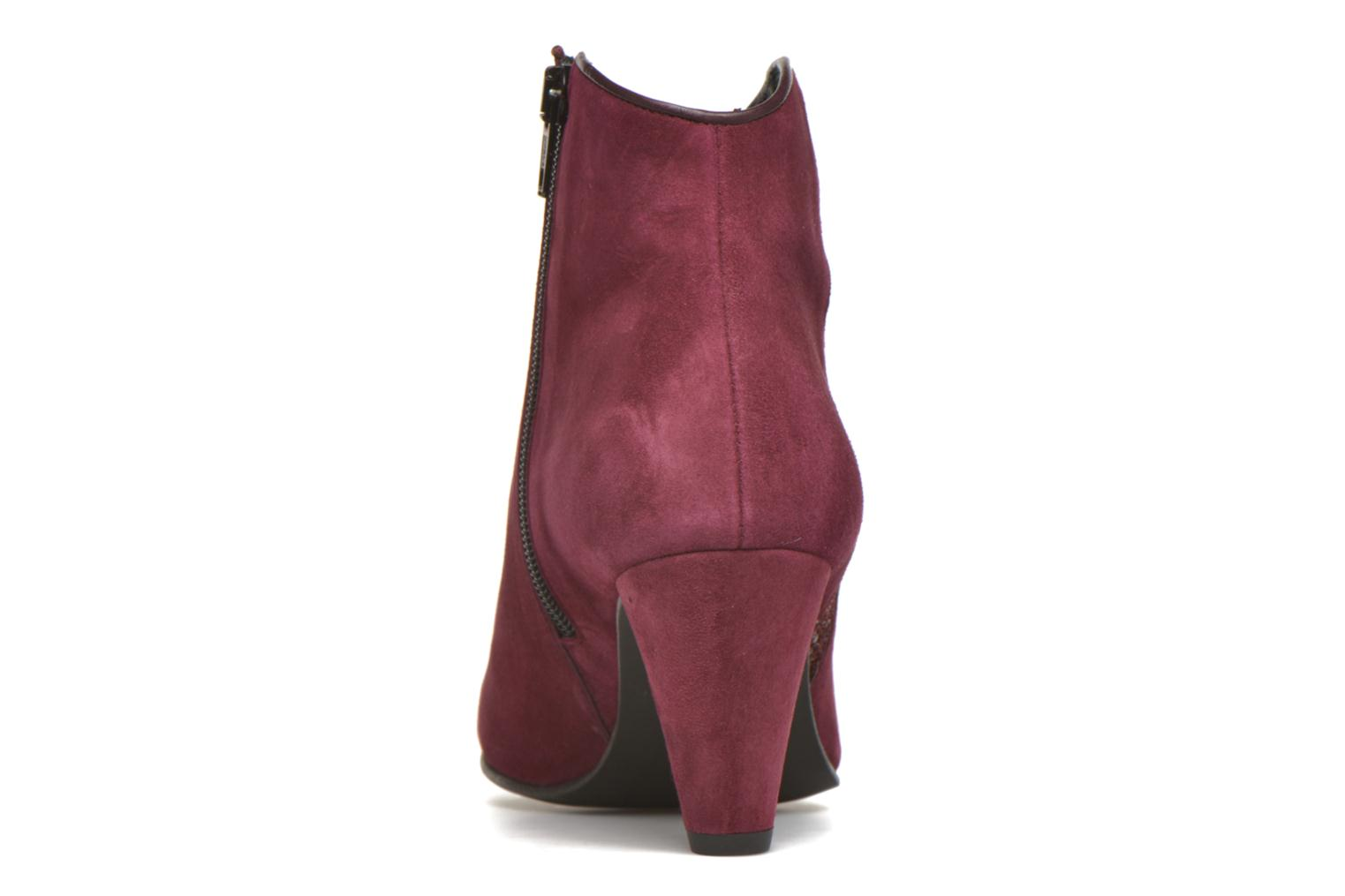 Ankle boots Georgia Rose Lolok Burgundy view from the right