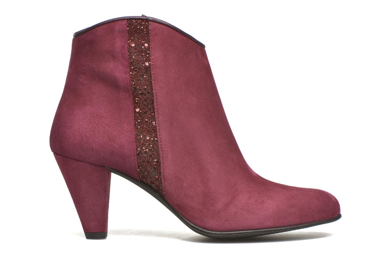 Ankle boots Georgia Rose Lolok Burgundy back view