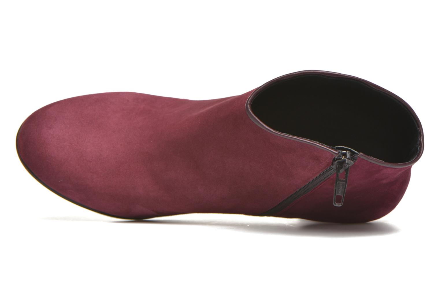 Ankle boots Georgia Rose Lolok Burgundy view from the left