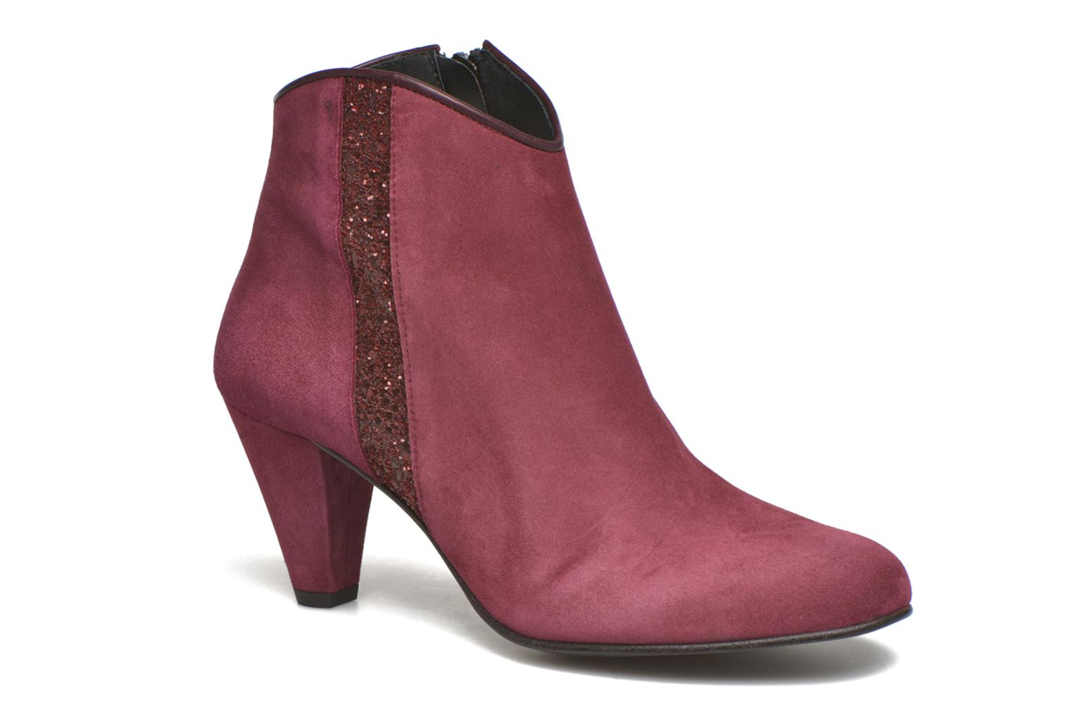 Ankle boots Georgia Rose Lolok Burgundy detailed view/ Pair view