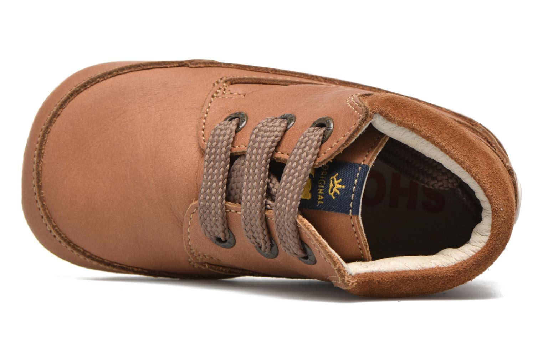 Chaussures à lacets Shoesme Stef Marron vue gauche
