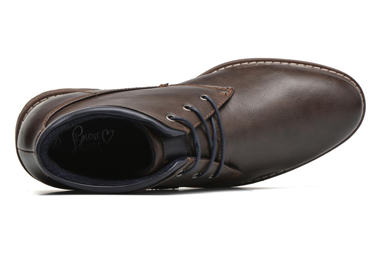 Veterschoenen I Love Shoes SUTILLON Bruin links
