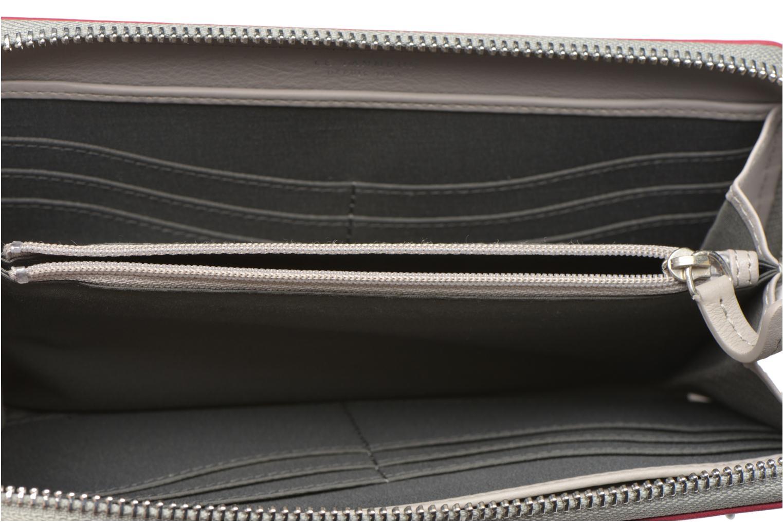 VALENTINE Porte-monnaie long zippé Bicolore Acier Fushia