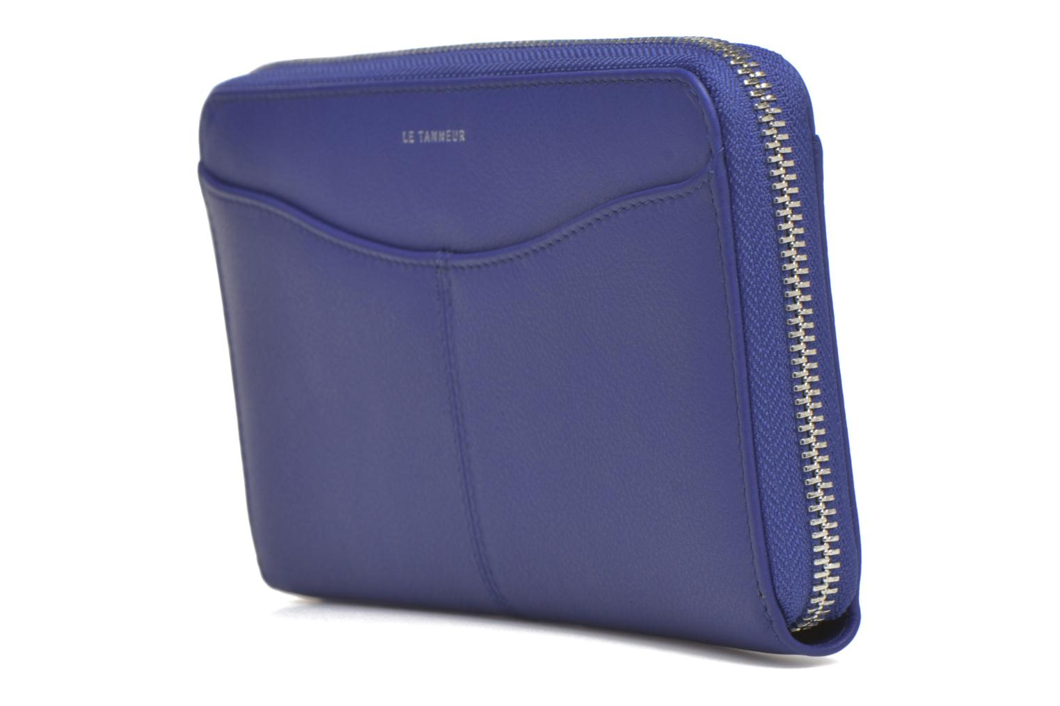 Wallets & cases Le Tanneur VALENTINE Porte-monnaie long zippé Blue model view