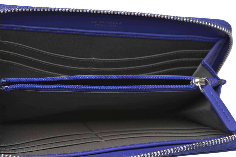 Marroquinería pequeña Le Tanneur VALENTINE Porte-monnaie long zippé Azul vistra trasera