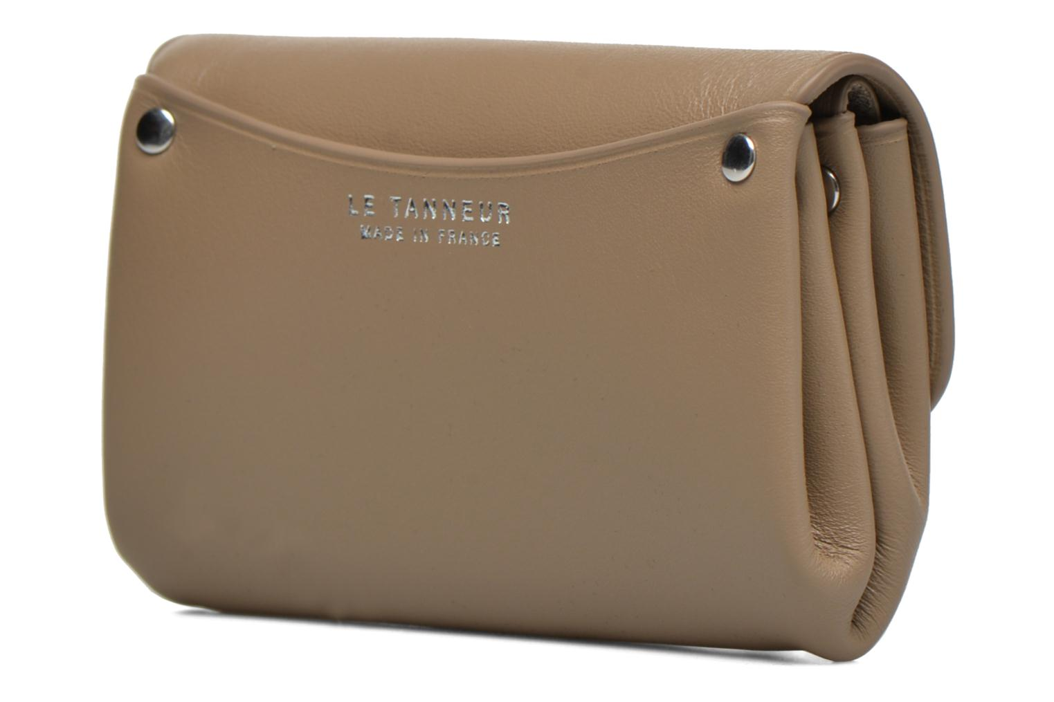 Wallets & cases Le Tanneur SANS COUTURE Porte-monnaie Made in France Beige view from the right