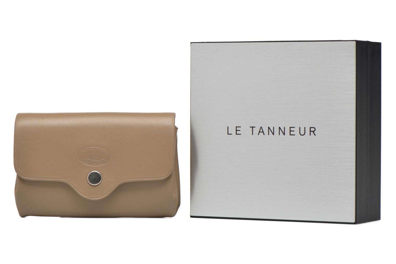 Petite Maroquinerie Le Tanneur SANS COUTURE Porte-monnaie Made in France Beige vue détail/paire