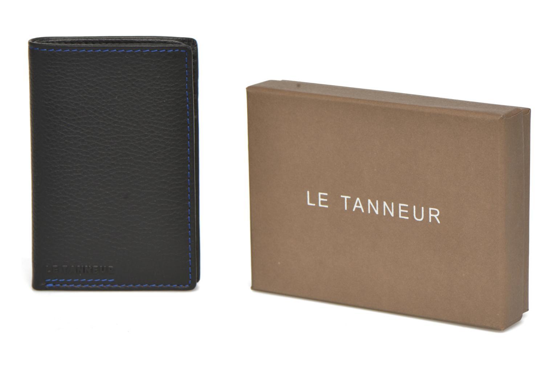 Wallets & cases Le Tanneur MARIUS Porte-cartes poche billets Black detailed view/ Pair view