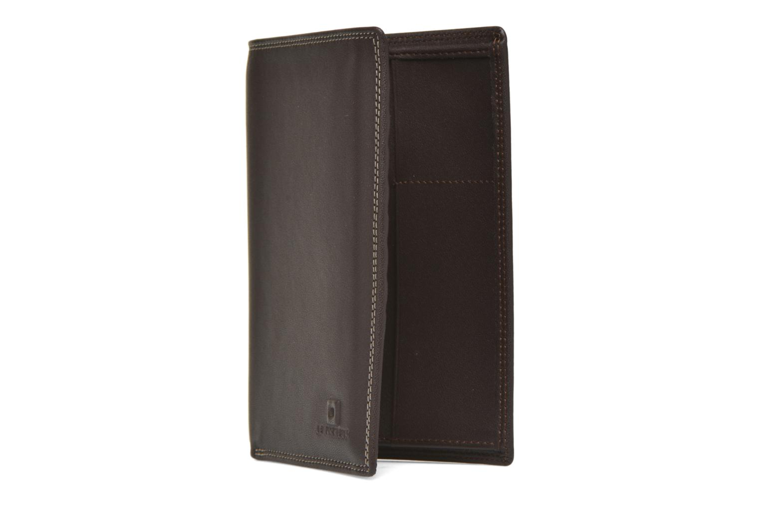 TOURAINE Portefeuille poche zip 2 volets marron