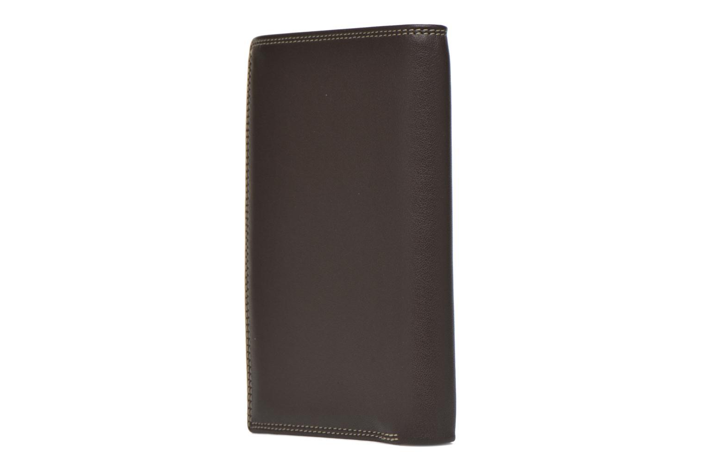 Portemonnaies & Clutches Le Tanneur TOURAINE Portefeuille poche zip 2 volets braun ansicht von rechts