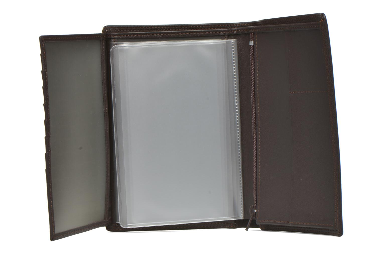 TOURAINE Portefeuille poche zip 2 volets marron