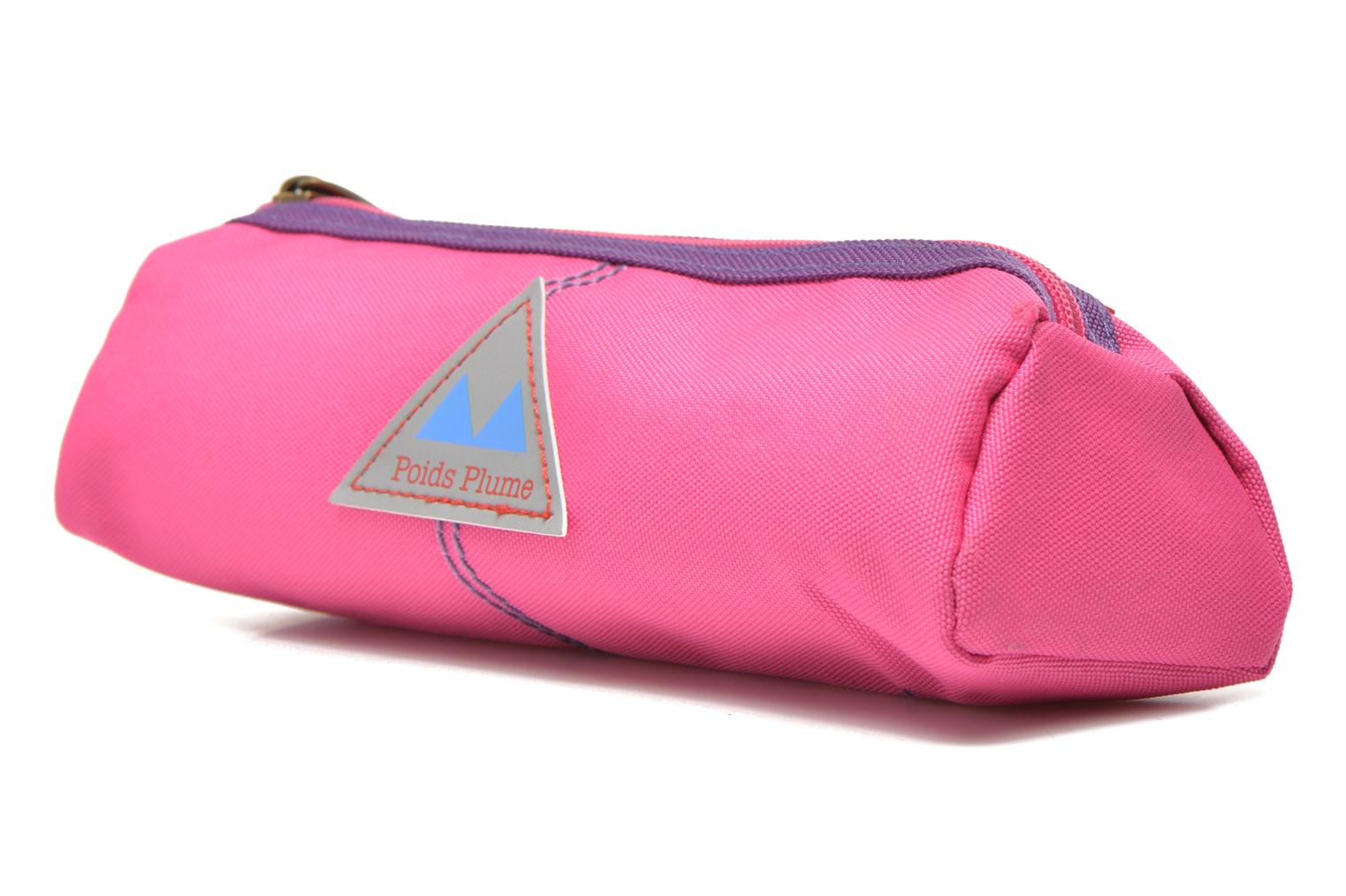 School bags Poids Plume Trousse triangle unie Pink model view