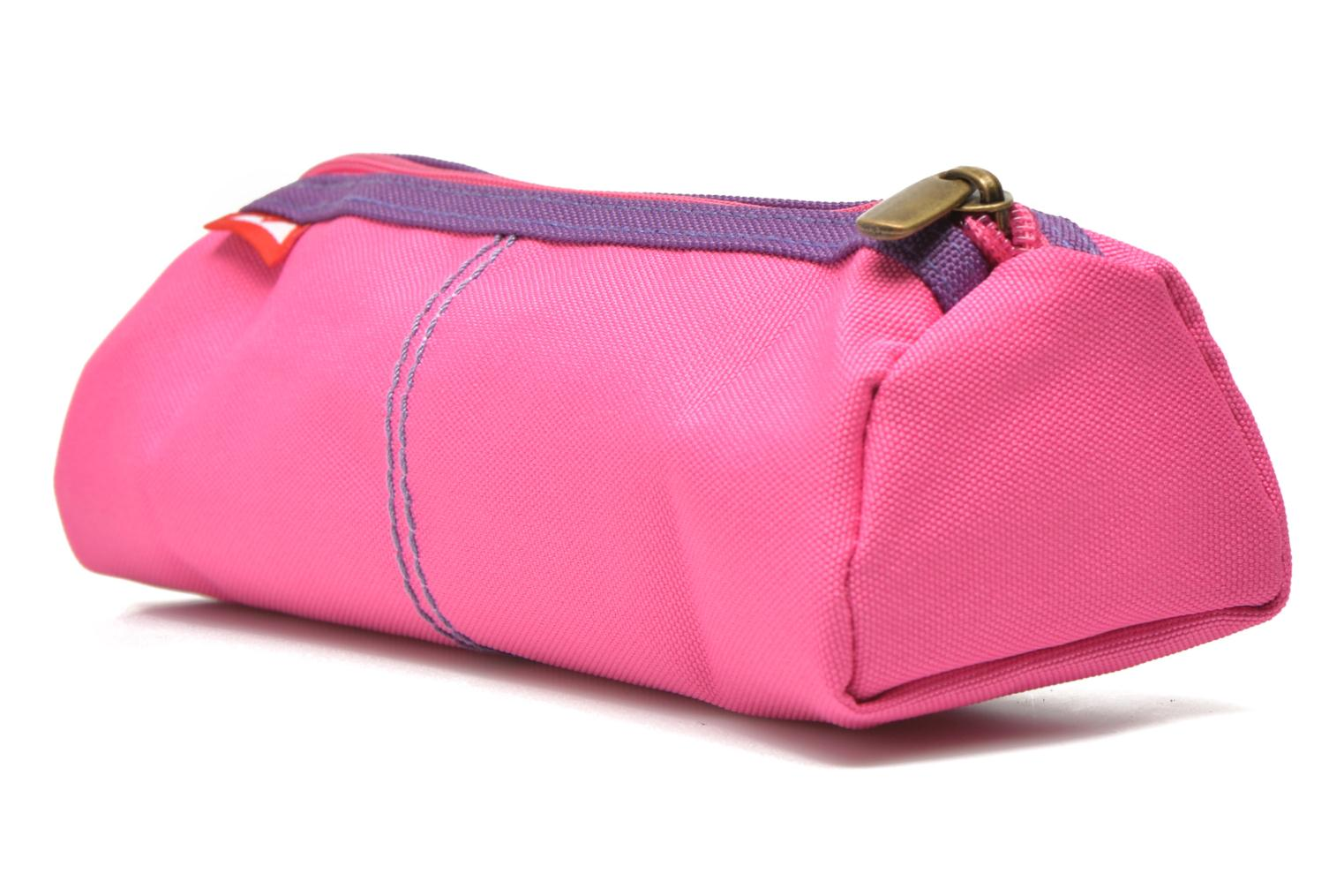 School bags Poids Plume Trousse triangle unie Pink view from the right