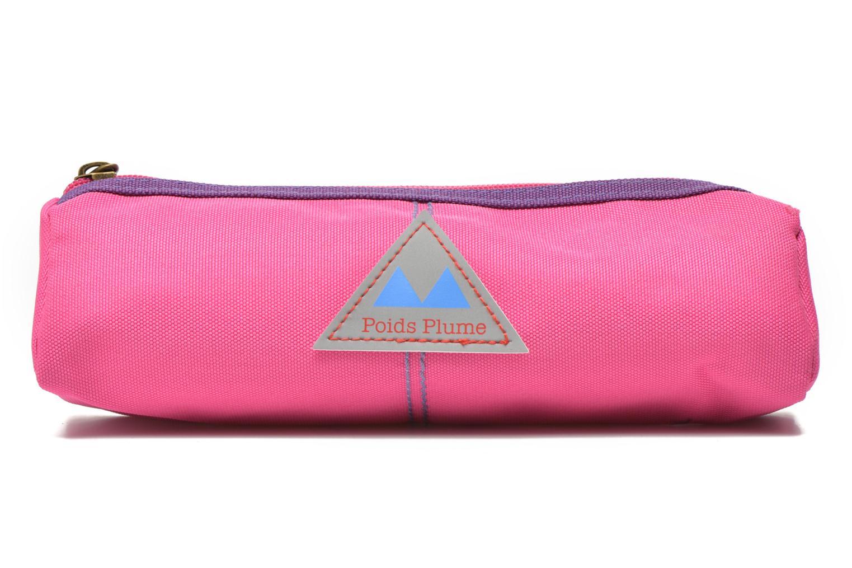 Trousse triangle unie Rose Violet