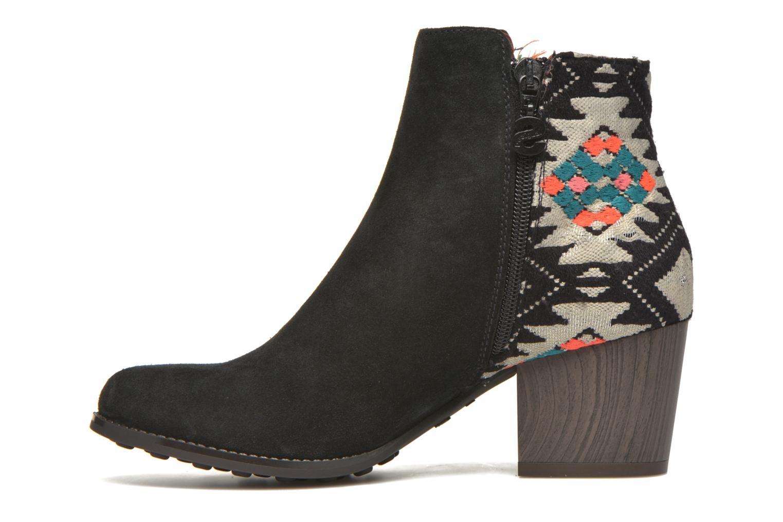 Bottines et boots Desigual Indian country Noir vue face