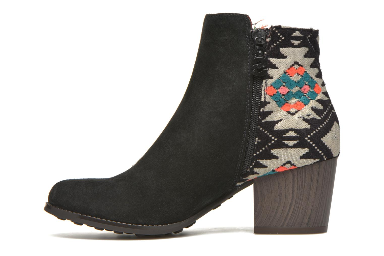 Botines  Desigual Indian country Negro vista de frente
