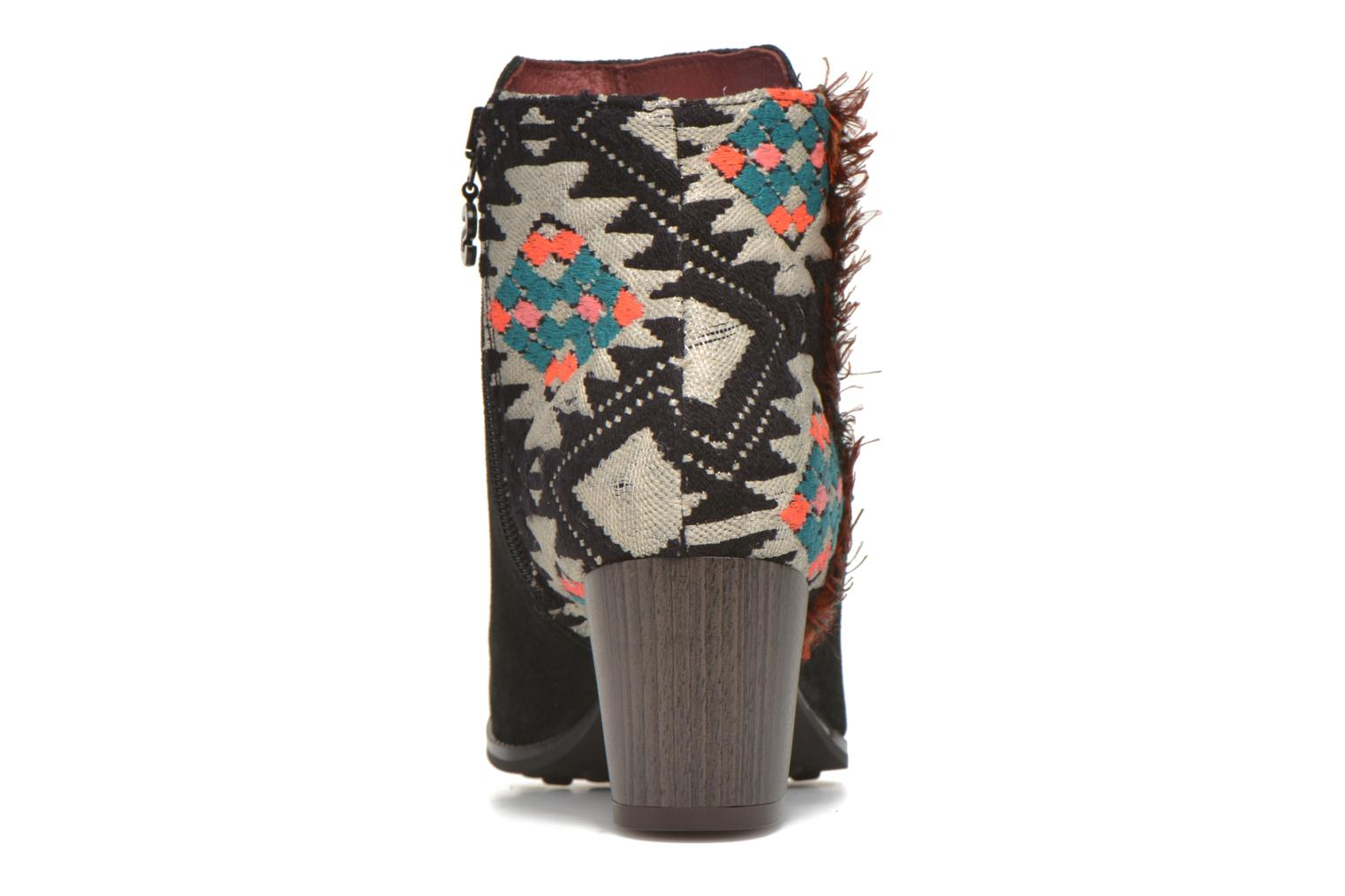 Botines  Desigual Indian country Negro vista lateral derecha