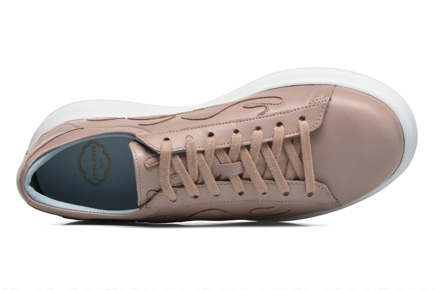 Trainers Apologie Flac Pink view from the left