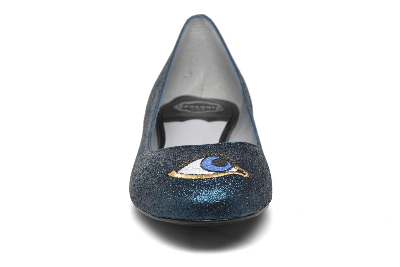 Ballerinas Apologie Ballerina beaux yeux blau schuhe getragen