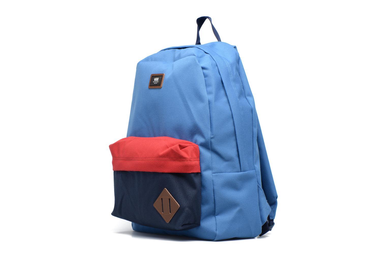 Zaini Vans OLD SCHOOL II Azzurro modello indossato