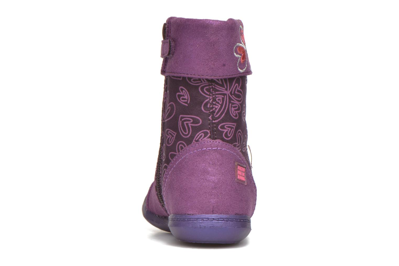 Boots & wellies Agatha Ruiz de la Prada Clever Boots 2 Purple view from the right