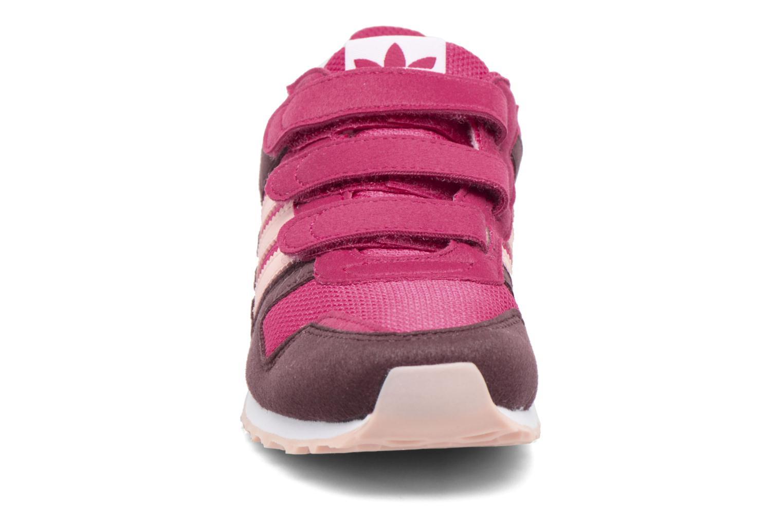 Baskets Adidas Originals Zx 700 Cf C Rose vue portées chaussures