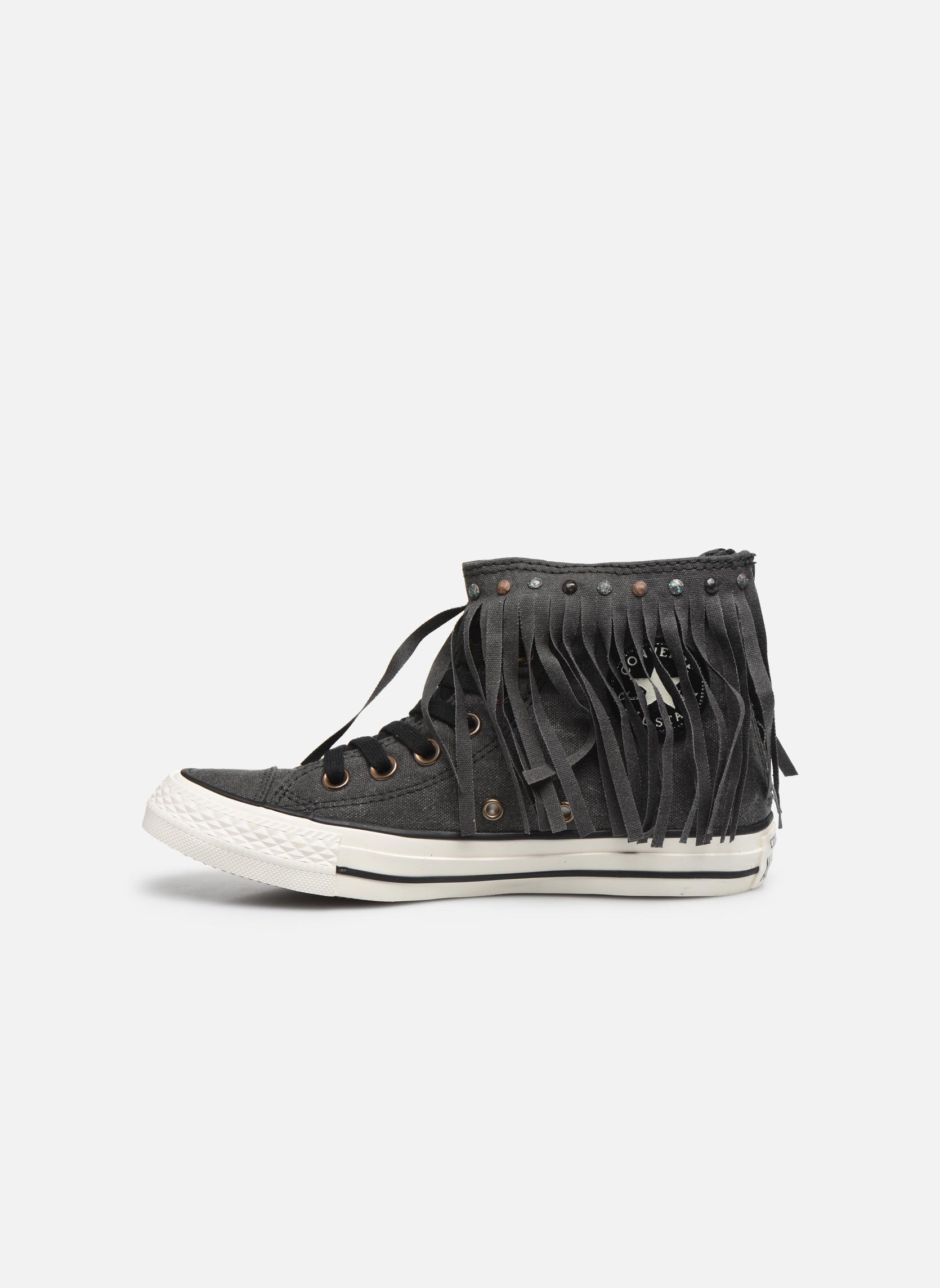 Sneaker Converse Chuck Taylor All Star Fringe Hi W schwarz ansicht von vorne