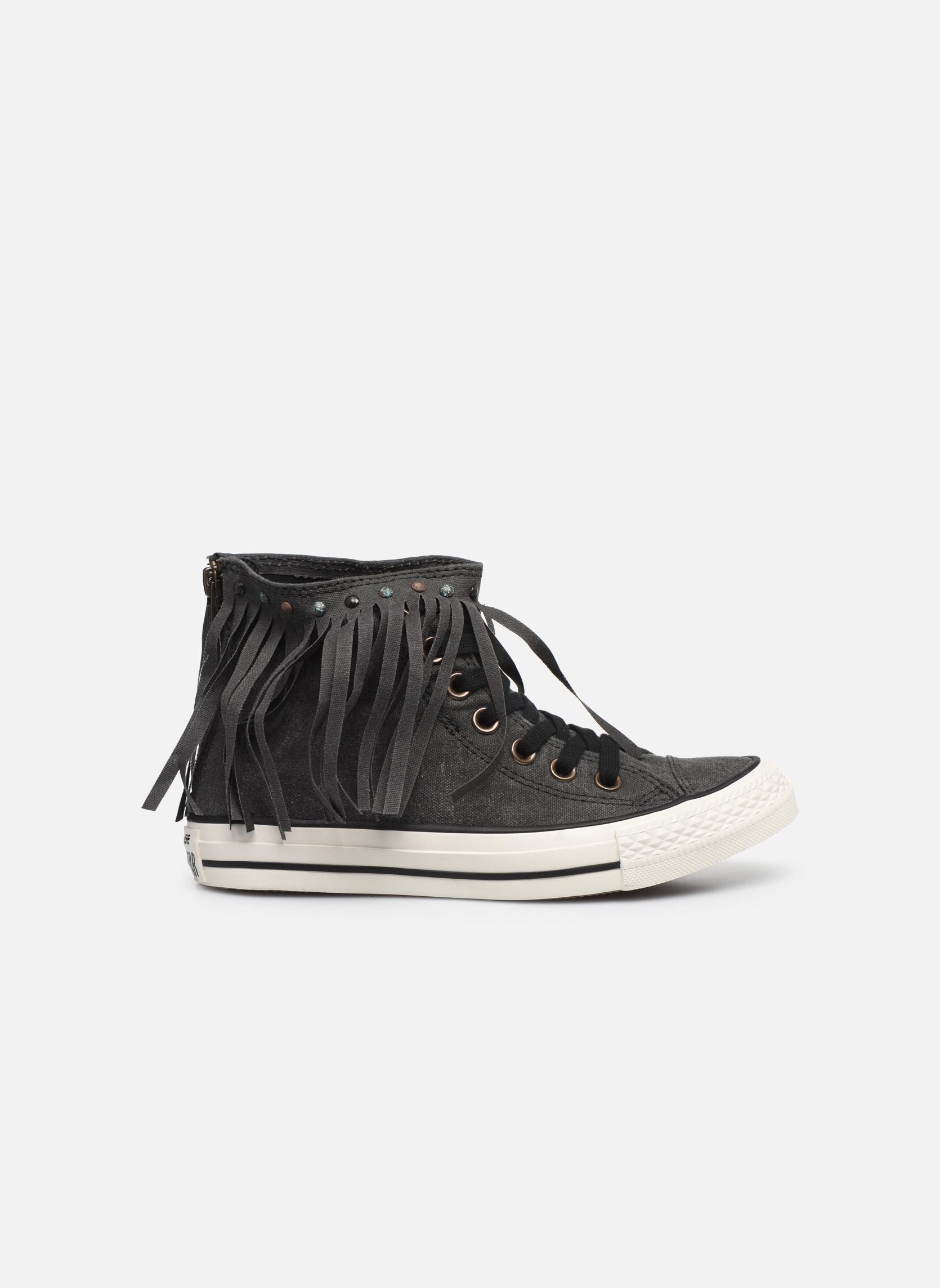 Sneaker Converse Chuck Taylor All Star Fringe Hi W schwarz ansicht von hinten