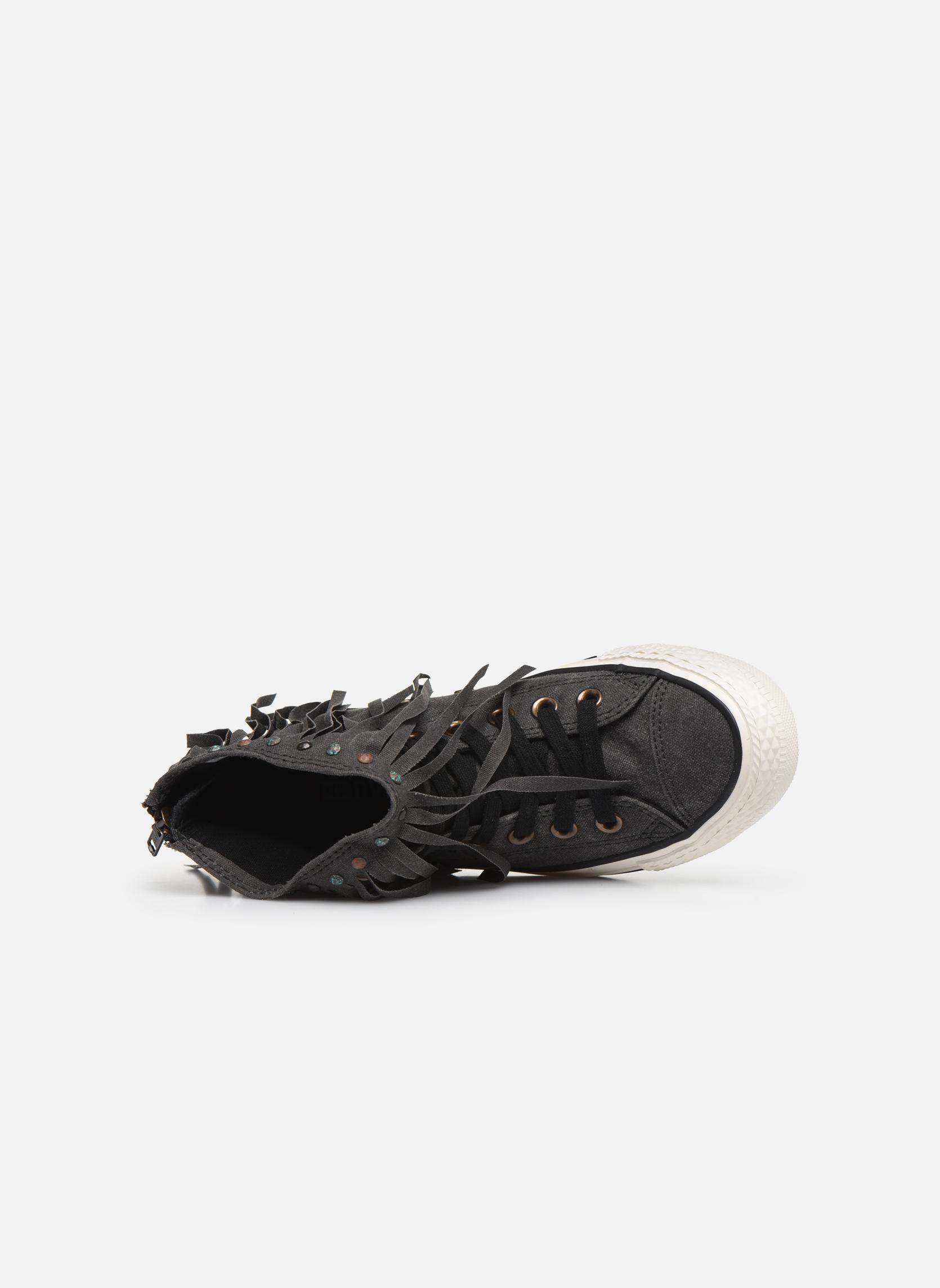 Sneaker Converse Chuck Taylor All Star Fringe Hi W schwarz ansicht von links